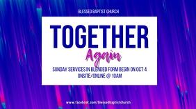 Church Reopening Display digitale (16:9) template