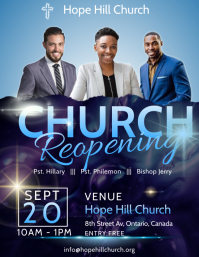 Church Reopening Flyer template