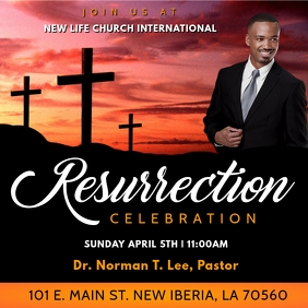 CHURCH RESURRECTION CELEBRATION FLYER