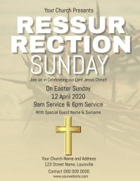 Church Resurrection Sunday Flyer Template