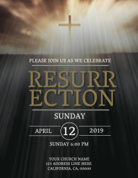 Church Resurrection Sunday Flyer Template
