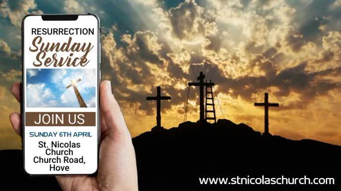 Church Resurrection Sunday Service Template Digitalt display (16:9)
