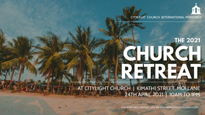 CHURCH RETREAT flyer Digitale display (16:9) template