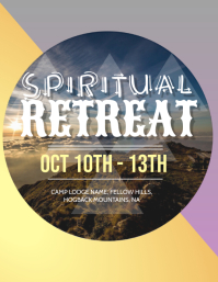 Church Retreat Flyer Template