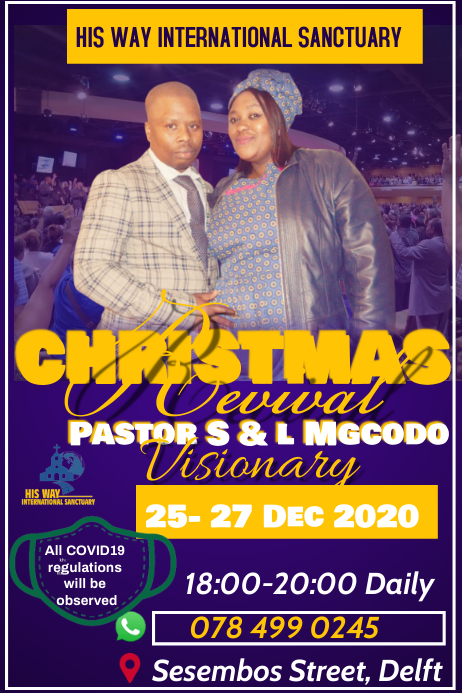 Christmas Revival Poster template
