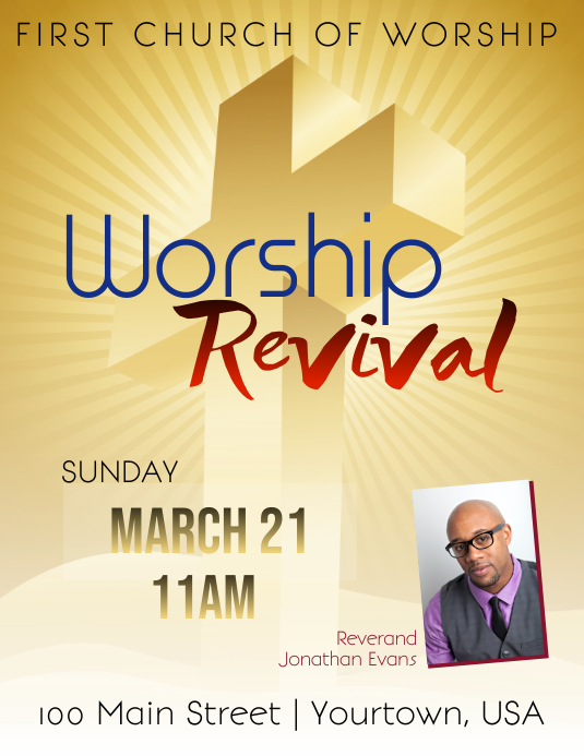 Church Revival Event Flyer template