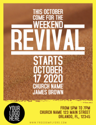 Church Revival Event Flyer Template Design