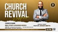 Church Revival flyer Facebook-omslagvideo (16: 9) template