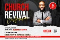 Church Revival flyer Etiket template