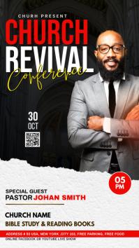 Church Revival flyer Instagram Story template