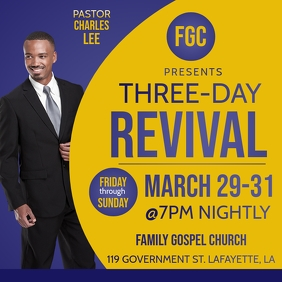 CHURCH REVIVAL FLYER