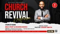 Church Revival flyer Facebook Cover Video (16:9) template