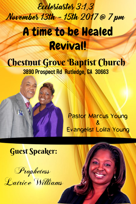Church Revival Flyer Template Postermywall