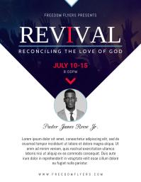 Church Revival Flyer Template Design