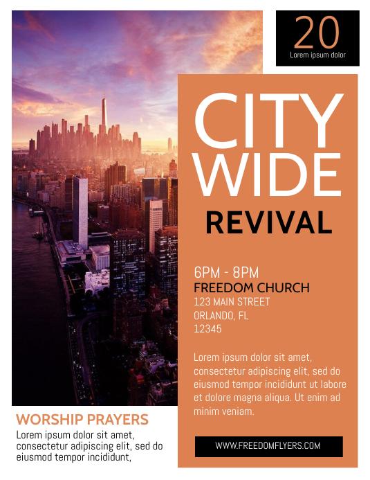 Church Revival Template Flyer Design Pamflet (Letter AS)