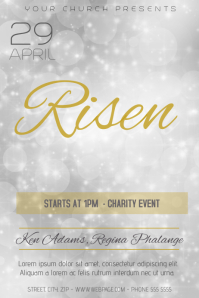 church risen event flyer template