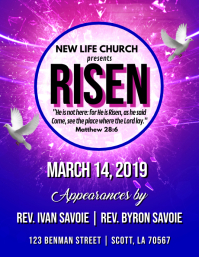 CHURCH RISEN FLYER TEMPLATE