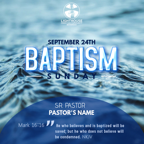 Church's Baptism Invitation