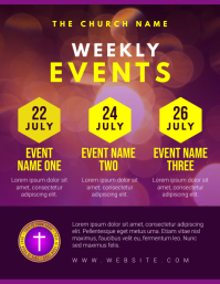 church schedule Flyer (US Letter) template