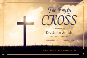 Church Sermon Invitation Landscape Poster