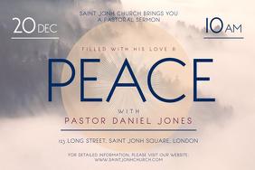 Church Sermon Invitiation Landscape Poster