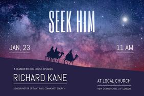 Church Sermon Landscape Poster