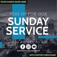 church service ad social media TEMPLATE Quadrado (1:1)