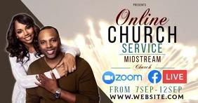 church service ad social media TEMPLATE Facebook Shared Image