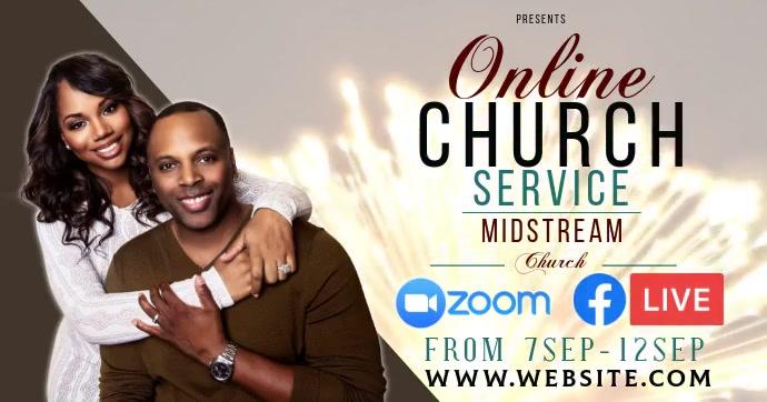 church service ad social media TEMPLATE Gambar Bersama Facebook