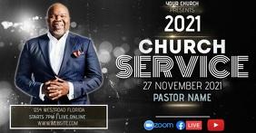 CHURCH SERVICE AD TEMPLATE Gedeelde afbeelding op Facebook