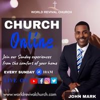Church service Instagram-Beitrag template