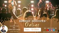 Church Service Affichage numérique (16:9) template