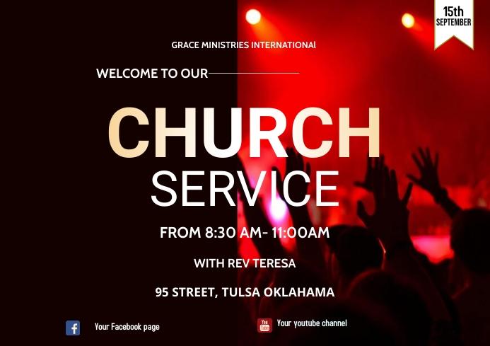 CHURCH SERVICE A3 template
