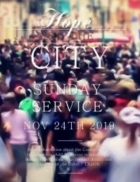 Church Service Event Flyer Template