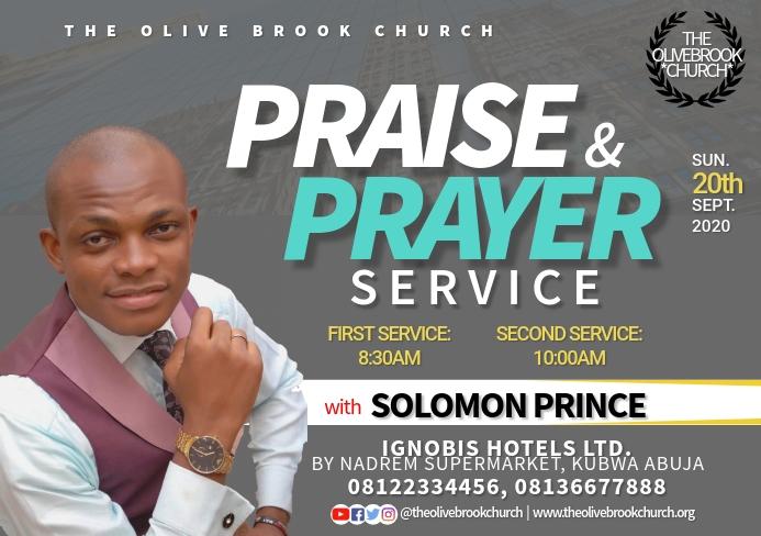 Church service flyer A5 template