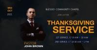 church service flyer template Isithombe Esabiwe ku-Facebook
