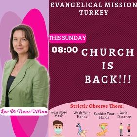 Church Service Instagram Template Instagram-Beitrag