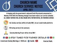 Church Service Notice Presentación template