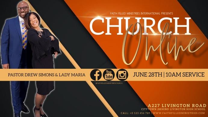 CHURCH SERVICE SERMON AD TEMPLATE Thumbnail sa YouTube