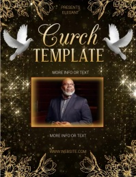 CHURCH SERVICE SERMON EVENT FLYER Template