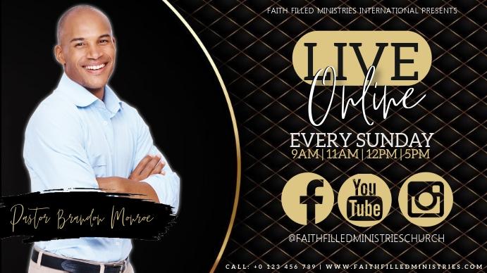 CHURCH SERVICE SERMON TEMPLATE Thumbnail sa YouTube