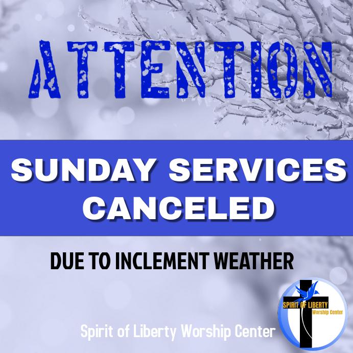 Church services canceled
