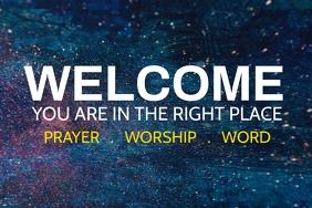 Church Slide template Plakat