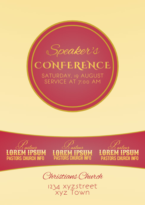 Church Speakers Template Flyer
