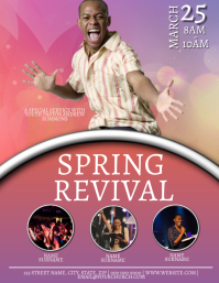 Church Spring Revival Event Flyer Template