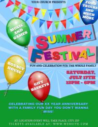 Church Summer Festival Event Template Flyer (US Letter)