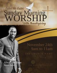 church sunday morning worship service