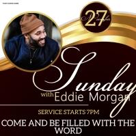 church sunday service ad social media post Message Instagram template