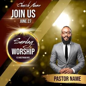 church sunday service ad social media post