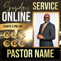 church sunday service ad template Instagram Post